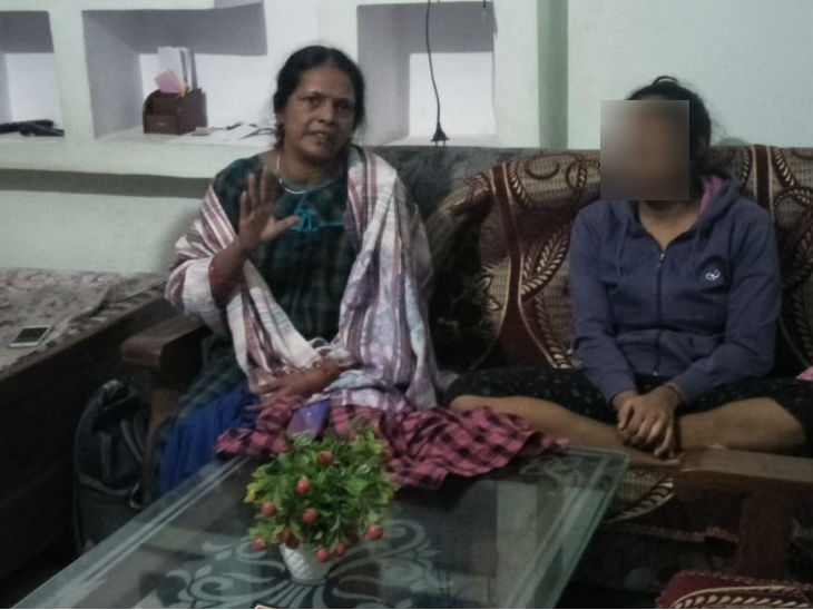 Accused with his ailing mother.