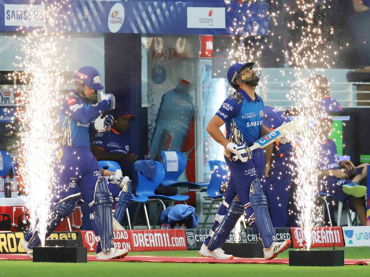 It was Rohit Sharma's 200th match in the league. Rohit also scored half-centuries in his 50th, 100th and 150th matches of the league. Rohit is also the first captain to score two 50+ scores in the final.