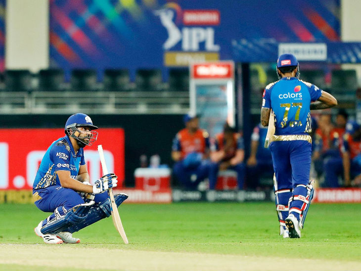 Rohit looked disappointed after Suryakumar's runout.