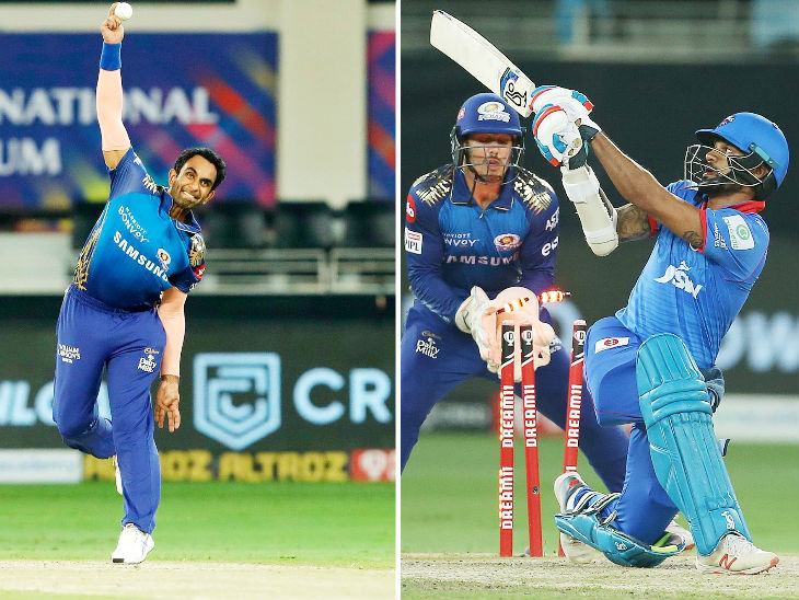 Jayant Yadav of Mumbai vindicated his captain's decision and dismissed Shikhar Dhawan in his own over.