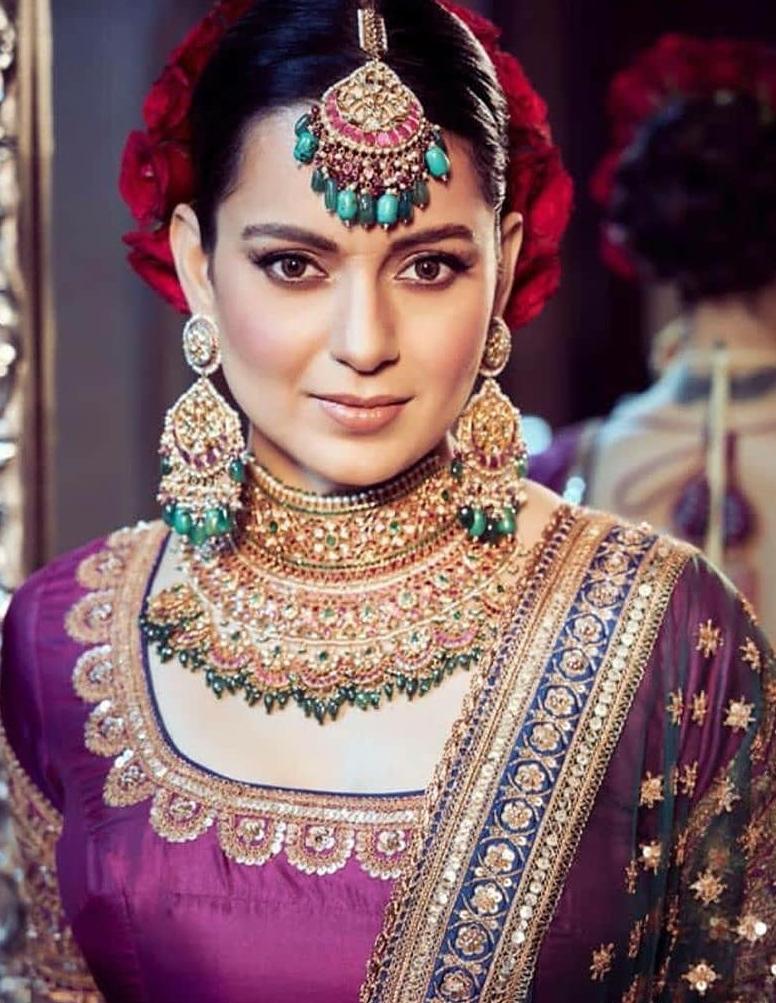 Actress Kangana seen in traditional jewelery