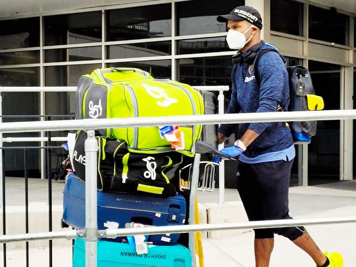 Team India opener Shikhar Dhawan arrived in Sydney in Australia.