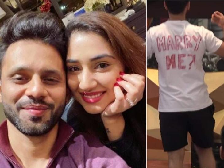राहुल वैद्य की गर्लफ्रेंड दिशा परमार ने नेशनल टेलीविजन पर मिले प्रपोजल पर दिया रिएक्शन, शर्माते हुए कहा, 'आज स्पेशल दिन है'|टीवी,TV - Dainik Bhaskar