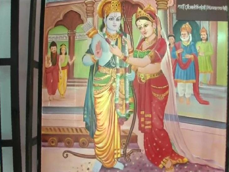 अयोध्या में सूचना एवं जनसंपर्क विभाग की ओर से लगाई गई फोटो प्रदर्शनी।
