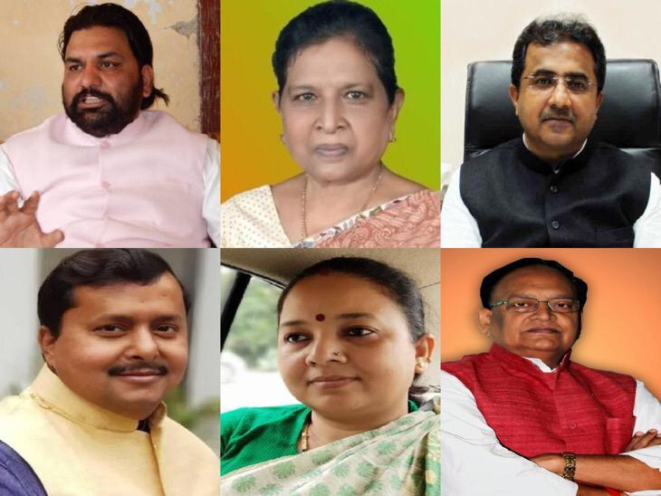 भाजपा के सम्राट चौधरी, रेणु देवी, नीतीश मिश्रा, नितिन नवीन, निकी हेम्ब्रम और अमरेंद्र प्रताप सिंह।
