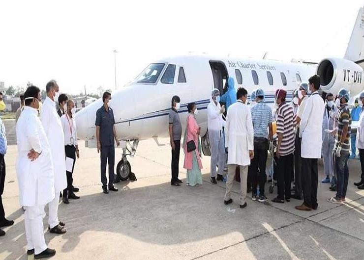 मास्टर भंवरलाल मेघवाल को एयर एंबुलेंस से गुरुग्राम के मेदांता अस्पताल में रैफर कर दिया गया। जहां उनका उपचार चल रहा था।