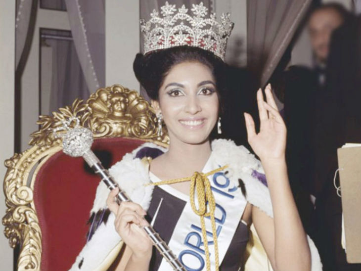 This picture is of Rita Faria's time of winning the Miss World title.