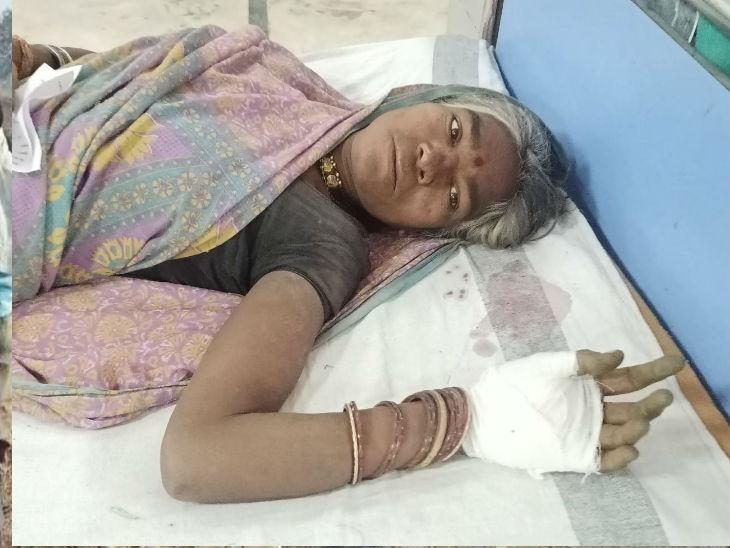 मेडिकल में इलाजरत महिला मजदूर