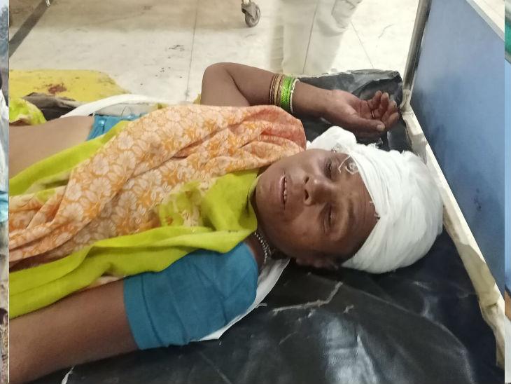 हादसे में घायल महिला मजदूर