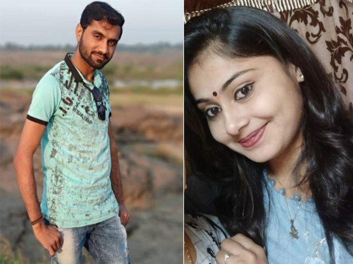 हादसे में जान गंवाने वाले सुरेश जिंजाला और उनकी बहन आरती। -फाइल फोटो। - Dainik Bhaskar