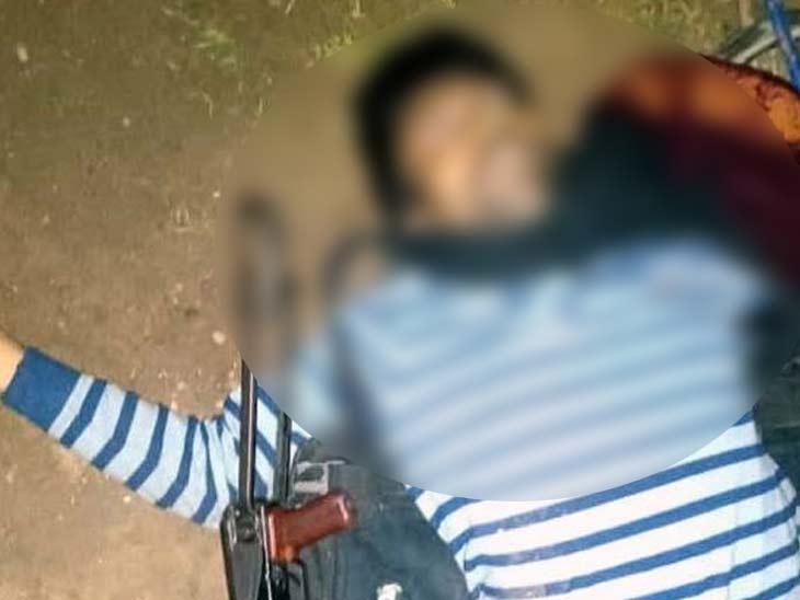 सुरक्षाबलों और नक्सलियों में मुठभेड़, मारा गया 10 लाख रुपए का इनामी नक्सली|झारखंड,Jharkhand - Dainik Bhaskar
