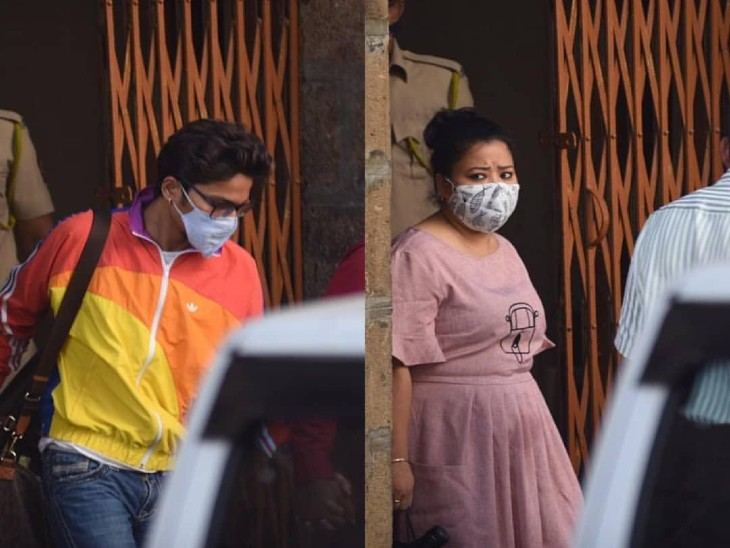 भारती सिंह और उनके पति हर्ष लिंबाचिया को जमानत मिली, ड्रग्स केस में गिरफ्तारी हुई थी|महाराष्ट्र,Maharashtra - Dainik Bhaskar