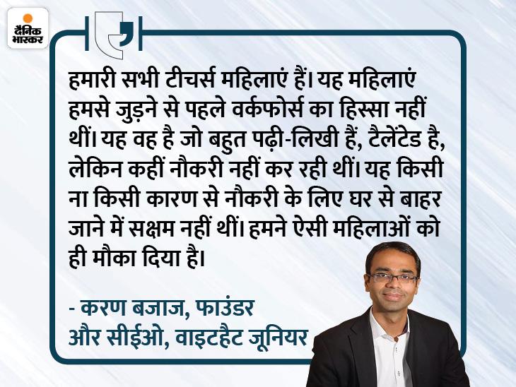 मेरी मां दिल्ली यूनिवर्सिटी की टॉपर थीं, पर करिअर नहीं बना पाईं, इसीलिए मैंने अपनी कंपनी में 11 हजार महिला टीचर को ही रखा है करिअर,Career - Dainik Bhaskar