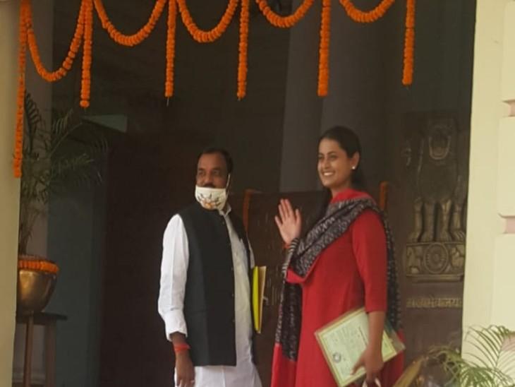 विधानसभा जातीं विधायक श्रेयसी सिंह।