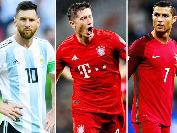 मेसी, रोनाल्डो समेत 11 खिलाड़ी बेस्ट प्लेयर के लिए नामित; लेवानडॉस्की खिताब के प्रबल दावेदार|स्पोर्ट्स,Sports - Dainik Bhaskar