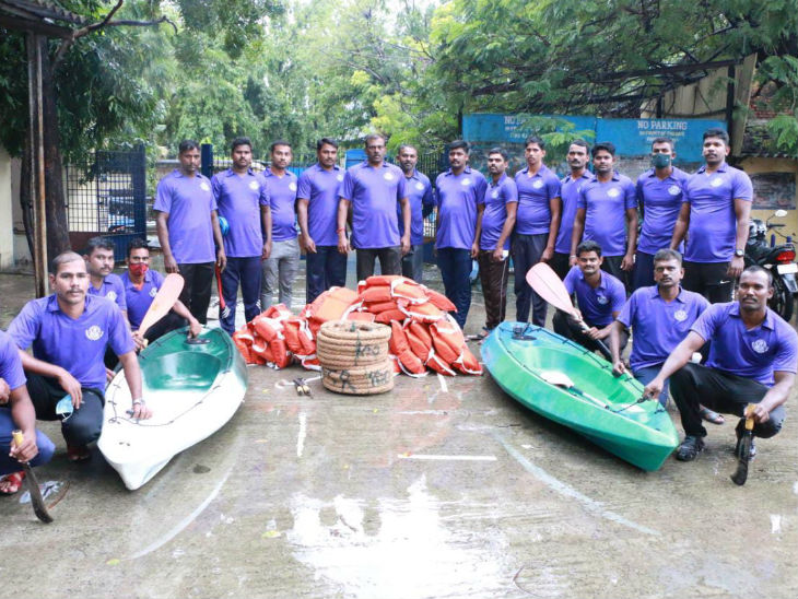 तमिलनाडु के तूफान से प्रभावित होने वाले जिलों में रिलीफ एंड रेस्क्यू टीम की तैयारी।