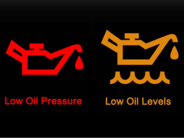 येलो लाइट ऑन हो तो समझ जाइए कि इंजन में ऑयल का लेवल कम है। इस स्थिति में गाड़ी चलाई जा सकती है।