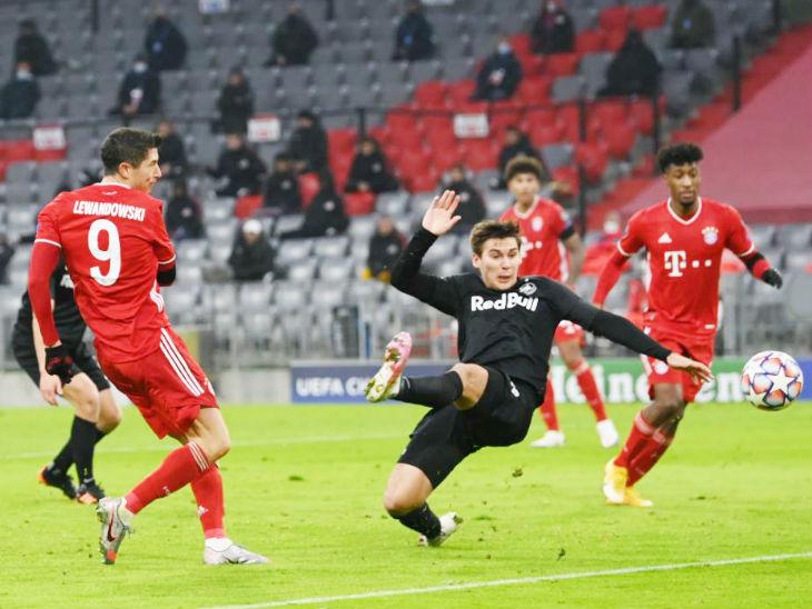 लेवानडॉस्की ने 71 गोल के साथ राउल की बराबरी की, अब सिर्फ मेसी और रोनाल्डो से पीछे स्पोर्ट्स,Sports - Dainik Bhaskar