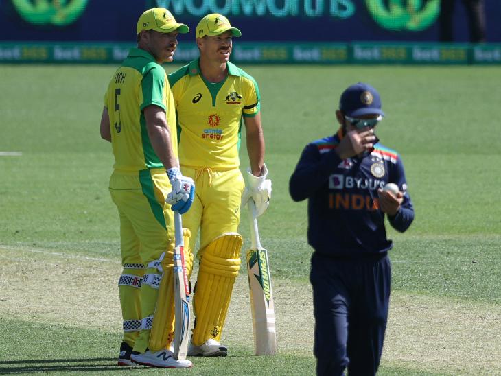 फिंच और डेविड वॉर्नर ने चौथी बार भारत के खिलाफ 150 से ज्यादा रन की पार्टनरशिप की। यह किसी जोड़ी द्वारा एक टीम के खिलाफ सबसे ज्यादा है।