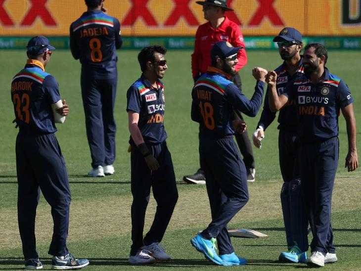 भारतीय गेंदबाजों में मोहम्मद शमी को 3 सफलता मिली। उन्होंने वॉर्नर, मैक्सवेल और स्मिथ को आउट किया।