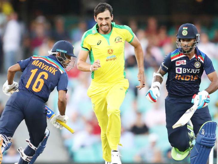 India VS Australia 1st ODI Update ; IND VS AUS sydney LIVE Score News | Australia vs India Score from SCG 2020 | भारत का दूसरा विकेट गिरा, मयंक के बाद कोहली भी पवेलियन लौटे; दोनों विकेट हेजलवुड ने लिए