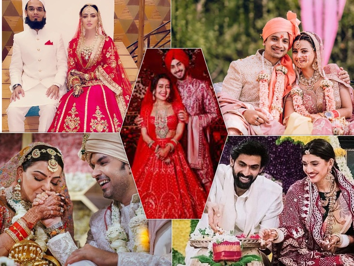 मिर्जापुर 2 एक्टर प्रियांशु पैन्युली, नेहा कक्कड़ से लेकर राणा दग्गुबती समेत, इन सितारों ने कोरोना के बीच लिए सात फेरे|बॉलीवुड,Bollywood - Dainik Bhaskar