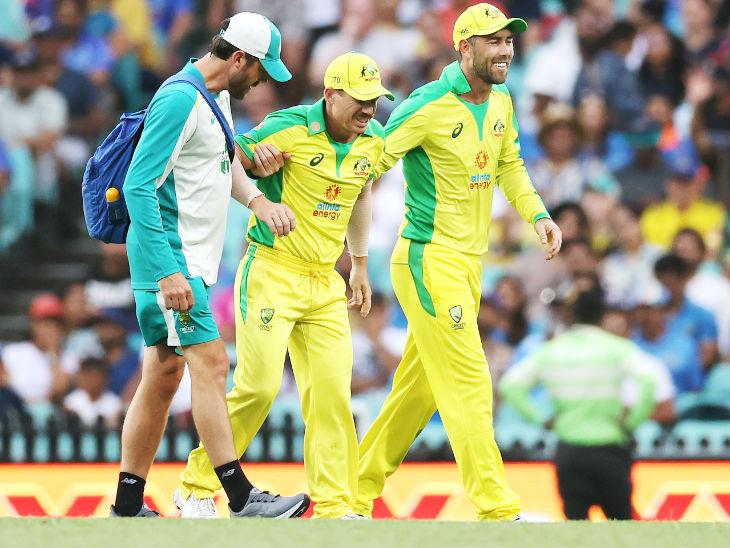 चोटिल वॉर्नर वनडे और टी-20 सीरीज से बाहर, वर्क लोड के कारण कमिंस को आराम दिया क्रिकेट,Cricket - Dainik Bhaskar