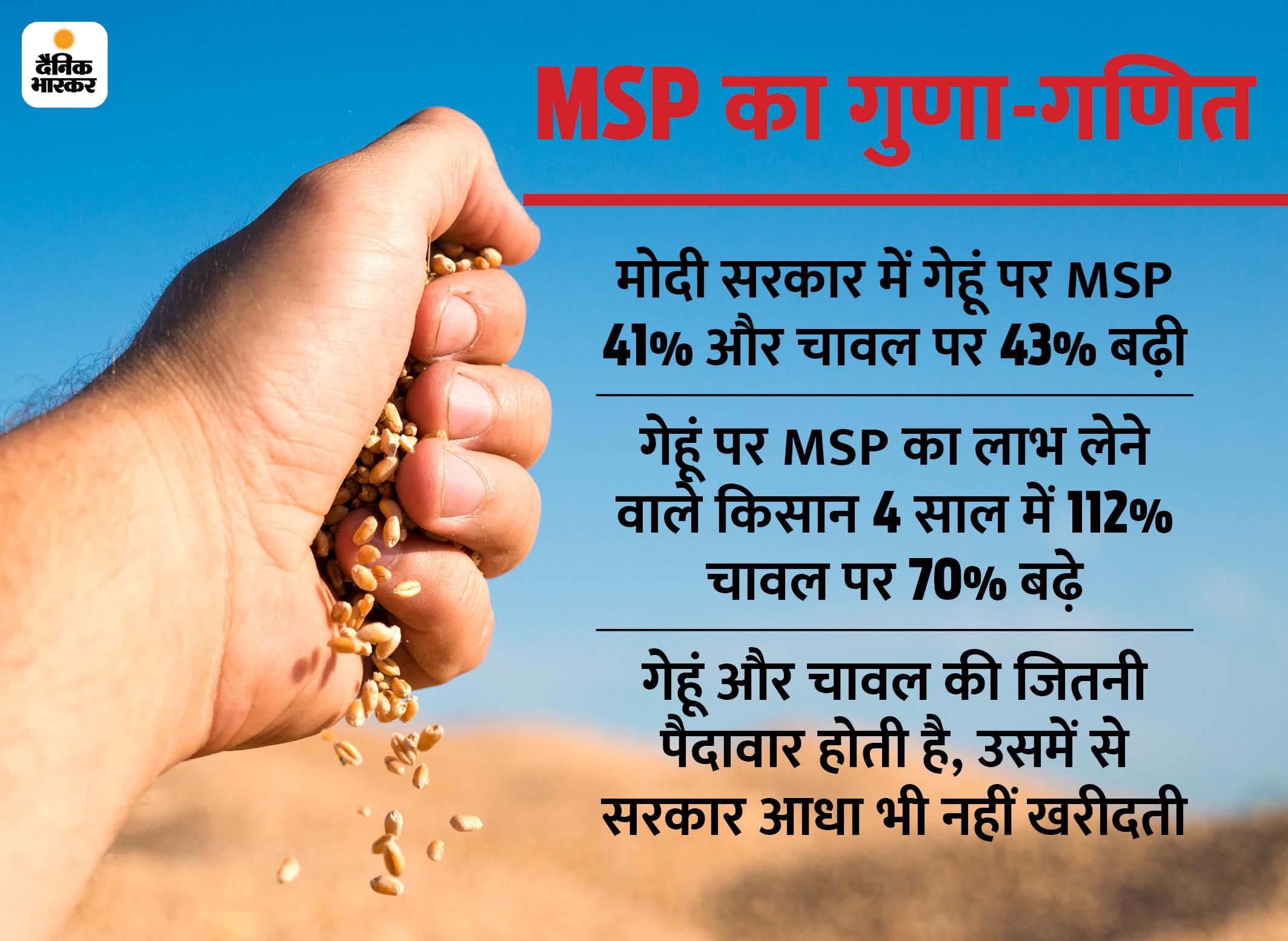 6% किसानों को ही मिलता है MSP का फायदा, इनमें पंजाब-हरियाणा के ज्यादा, इसलिए विरोध इन्हीं इलाकों में|एक्सप्लेनर,Explainer - Dainik Bhaskar