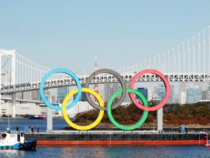 4 महीने बाद रेनबो ब्रिज पर लगाई गईं ओलिंपिक रिंग्स, कोरोना की वजह से हटाई गईं थीं|स्पोर्ट्स,Sports - Dainik Bhaskar