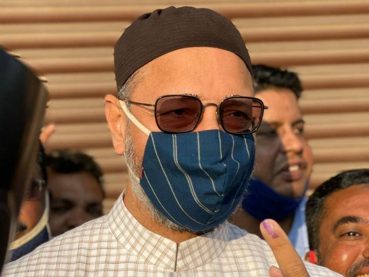 ओवैसी ने कहा कि कृपया बाहर निकलें और मतदान करें। हैदराबाद के खास कल्चर और पहचान के लिए, भारत के लोकतंत्र को मजबूत करने और शांतिपूर्ण हैदराबाद के लिए वोट डालें। - Dainik Bhaskar