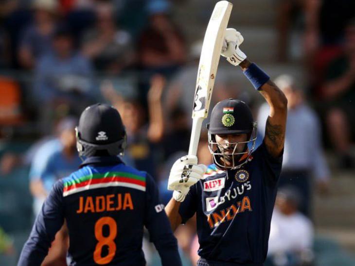 152 के स्कोर पर आधी टीम पवेलियन लौट चुकी थी। ऐसे में हार्दिक पंड्या (92*) ने रविंद्र जडेजा के साथ छठवें विकेट के लिए 108 बॉल पर 150 रन की पार्टनरशिप कर टीम को संभाला।