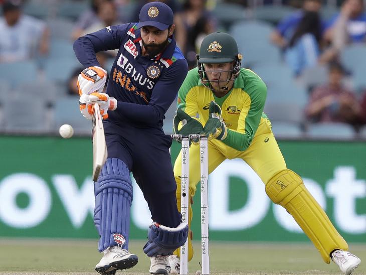 जडेजा ने 50 बॉल पर नाबाद 66 रन बनाए। अपनी पारी में उन्होंने 5 चौके और 3 छक्के लगाए।