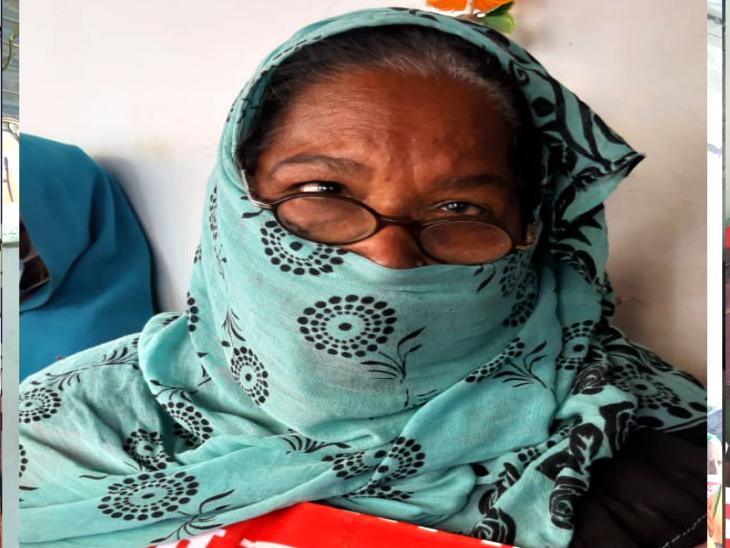 70 साल की लाली उर्फ कालीबाई ने बताया कि खाने के लिए दूसरों के भरोसे हैं।