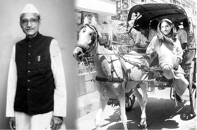 दिल्ली में तांगा चलता महाशय धर्मपाल गुलाटी। (फोटो- MDH वेबसाइट)