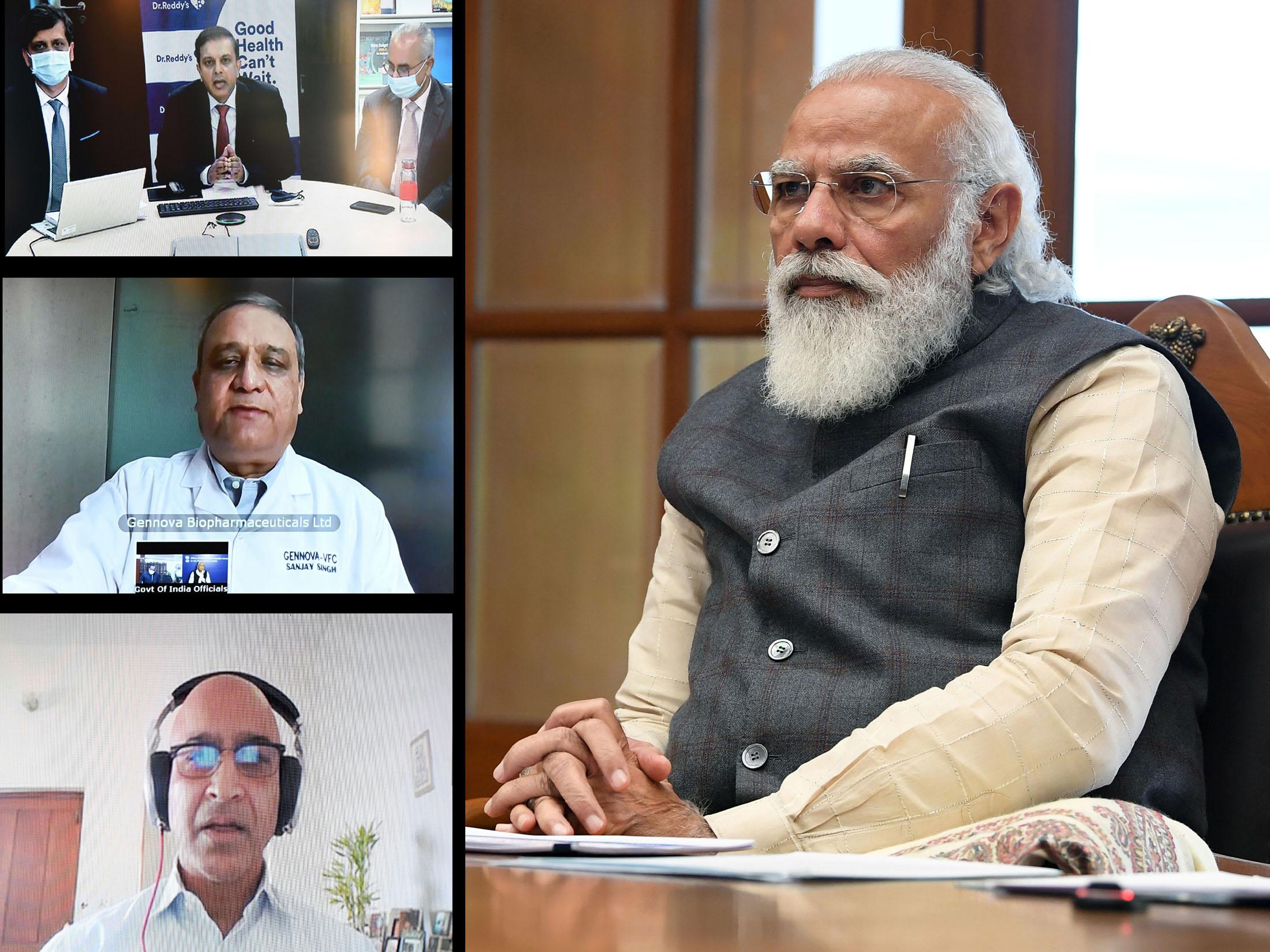 हाल ही में प्रधानमंत्री नरेंद्र मोदी ने देश के तीन संस्थानों में बन रहे वैक्सीन की जानकारी ली थी।