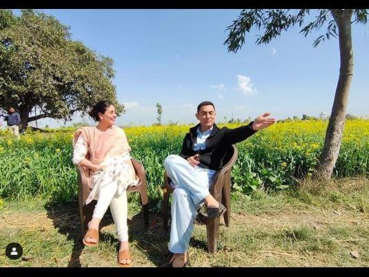 लाल सिंह चड्ढा के सेट पर करीना और आमिर।