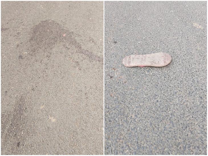 सड़क पर पसरा खून और श्वेतांगी के एक पैर का चप्पल।