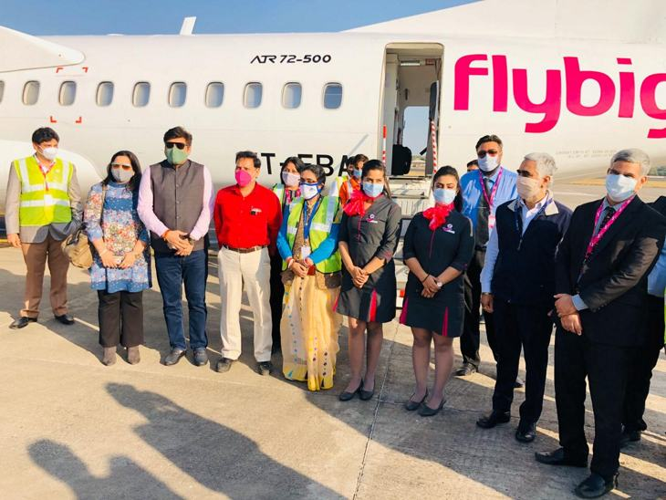 एयर लाइंस देश में पहली बार फ्लाइट का संचालन इंदौर से शुरू करेगी।