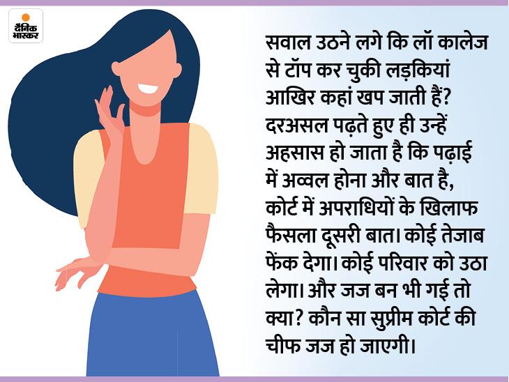 जब खुद कानून देवी की शक्ल में है तो कानून बनाने या फैसला देने वाले अकेले मर्द क्यों रहें DB ओरिजिनल,DB Original - Dainik Bhaskar