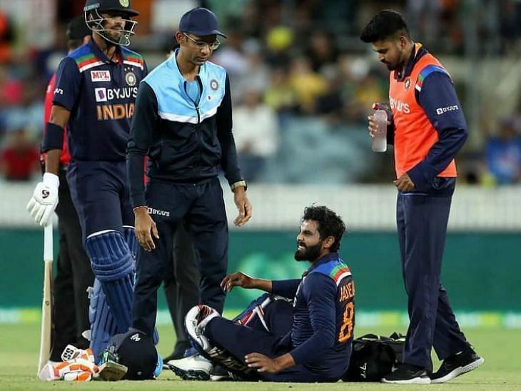 जडेजा के पहले टेस्ट में खेलने पर सस्पेंस, कन्कशन और हैमस्ट्रिंग की वजह से टी-20 सीरीज से बाहर हो गए थे|क्रिकेट,Cricket - Dainik Bhaskar