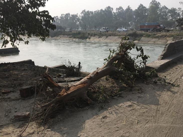 सिवाह बाइपास पर दिल्ली पेरलर नहर का पुल, यहीं हादसा हुआ।
