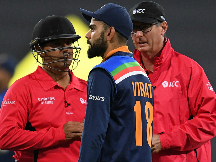 टीवी अम्पायर ने भारत के रिव्यू को अमान्य करार दिया, कहा- कोहली ने स्क्रीन पर देखकर फैसला लिया|क्रिकेट,Cricket - Dainik Bhaskar