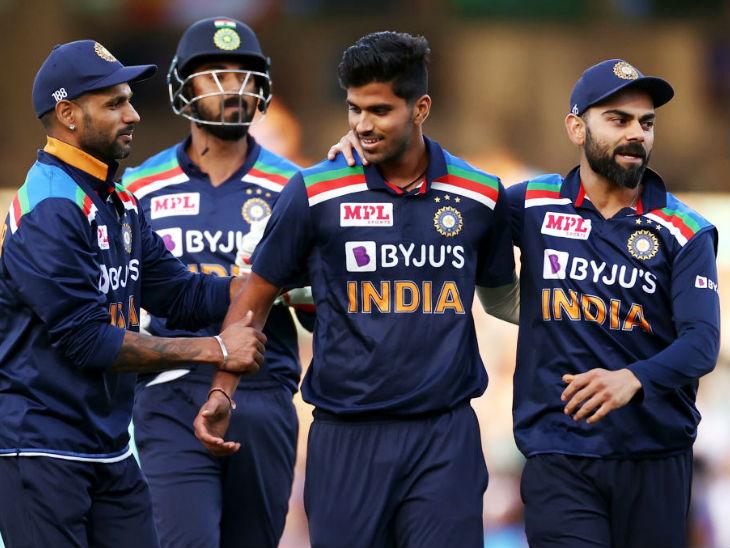 भारतीय टीम के लिए स्पिनर वॉशिंगटन सुंदर ने सबसे ज्यादा 2 विकेट लिए।