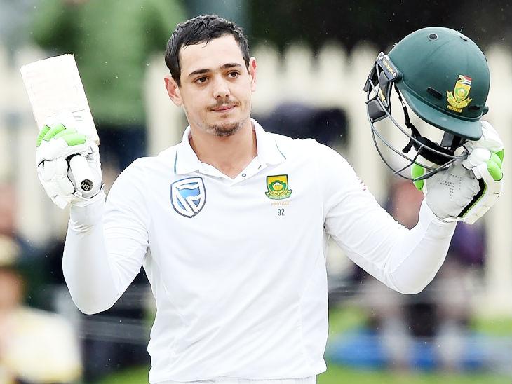 डी कॉक ने अब तक साउथ अफ्रीका के लिए 47 टेस्ट खेले हैं, जिसमें 39.12 की औसत से 2934 रन बनाए। (फाइल फोटो) - Dainik Bhaskar