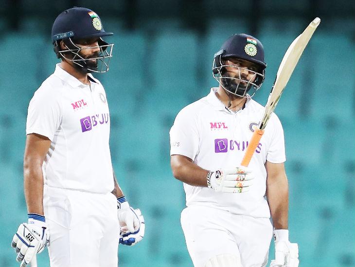 दूसरे दिन विहारी 104 रन और पंत 103 रन बनाकर नाबाद पवेलियन लौटे। - Dainik Bhaskar