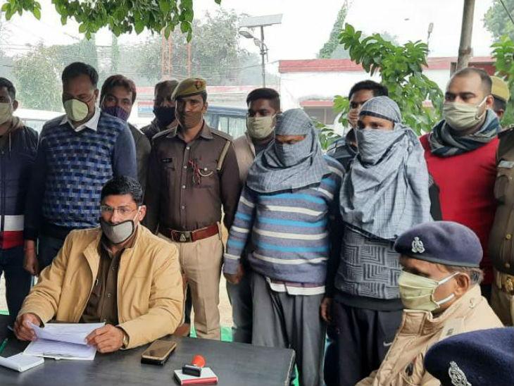 सुल्तानपुर में पुलिसिया कार्रवाई: अन्तरराज्यीय लुटेरों और पुलिस में मुठभेड़;  दो लुटेरे गिरफ्तार