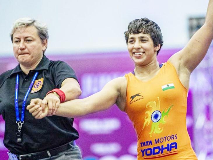 फाइनल में मेसिडोनिया की अनातासिया निकिता ने अंशु को 5-1 से हराया। (फाइल फोटो) - Dainik Bhaskar
