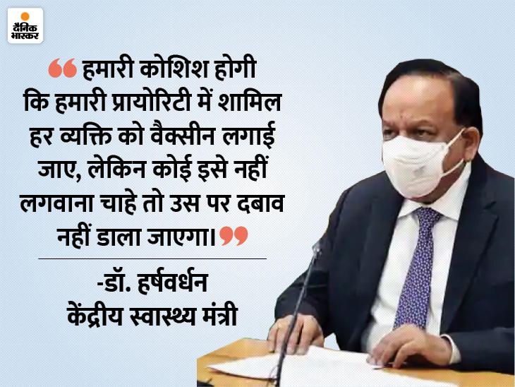 स्वास्थ्य मंत्री ने कहा- देश में जनवरी में वैक्सीनेशन शुरू हो सकता है, शायद महामारी का सबसे बुरा दौर खत्म हुआ|देश,National - Dainik Bhaskar