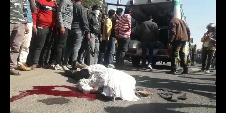 ट्रक ने बाइक को टक्कर मारी, टायर के नीचे आने से युवक की कुचलकर मौत|कोटा,Kota - Dainik Bhaskar