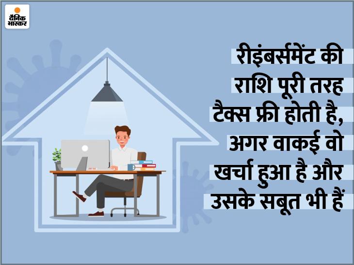 अगर आपको भी मिला है वर्क फ्रॉम होम के लिए रीइंबर्समेंट का पैसा, तो यहां जानें इस पर टैक्स का नियम|यूटिलिटी,Utility - Dainik Bhaskar